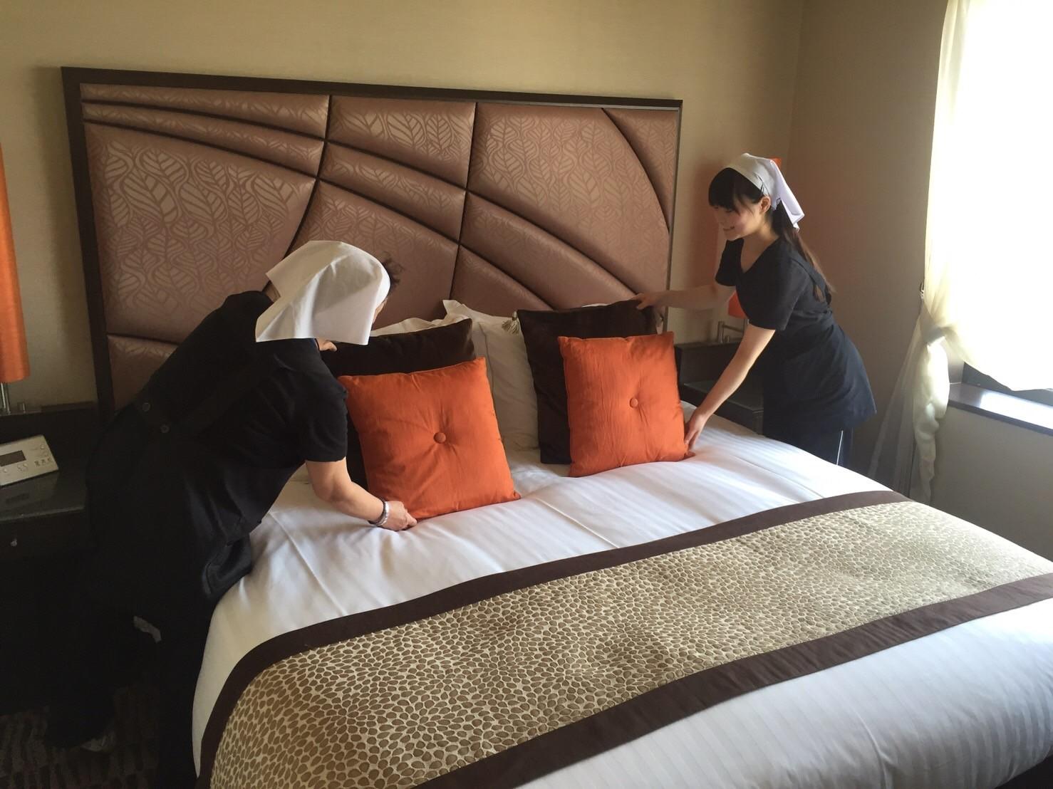 ホテルの清掃業務。自宅で活かせるスキルをたくさん学べます